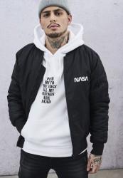 MR. TEE Pánska Bombera Mister Tee NASA Worm Logo Bomber Jacket black