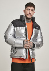 MR.TEE Pánska bunda NASA Two-Toned Puffer Jacket Farba: cool grey,