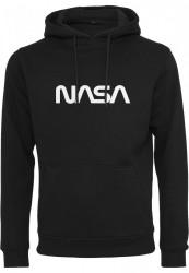 MR. TEE Pánska čierna mikina Mister NASA EMB Hoody