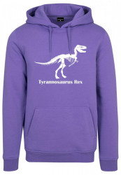 MR. TEE Pánska fialová mikina Mister Tee T-Rex Hoody