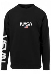 MR. TEE Pánska mikina Mister Tee NASA Crewneck black
