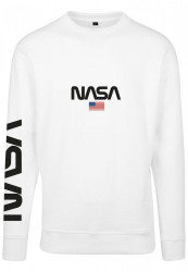 MR. TEE Pánska mikina Mister Tee NASA Crewneck white