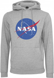 MR. TEE Pánska mikina Mister Tee NASA Hoody heather grey