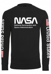 MR. TEE Pánska mikina Mister Tee NASA US Crewneck black