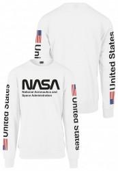 MR. TEE Pánska mikina Mister Tee NASA US Crewneck white #2