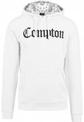 MR.TEE Pánska mikiny bez zipsu Compton Hooded Bandana Hoody Farba: white, #1