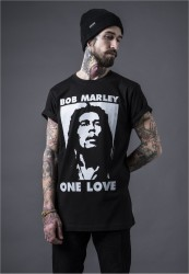 MR. TEE Pánske tričko Mister Tee Bob one Love Tee black