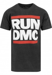 MR. TEE Pánske tričko Mister Tee Run DMC Logo Tee tmavo šedá