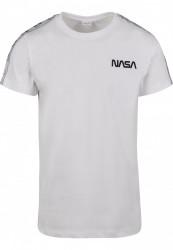 MR.TEE Pánske tričko NASA Rocket Tape Tee Farba: white,