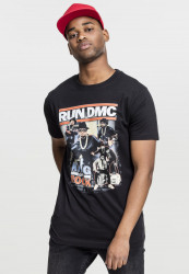 MR.TEE Run DMC King of Rock Tee Farba: black,