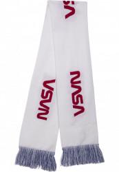 MR. TEE Šál Mr.Tee NASA Scarf Knitted biely