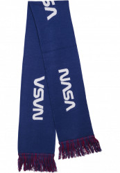MR. TEE Šál Mr.Tee NASA Scarf Knitted modrý