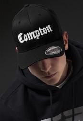 MR.TEE Šiltovka Mister Tee Compton Flexfit Cap blk/wht Flexfit: L/XL