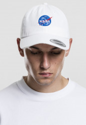 MR. TEE Šiltovka Mister Tee NASA Dad Cap white