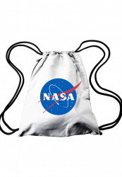 MR. TEE Vrecko NASA Gym Bag white