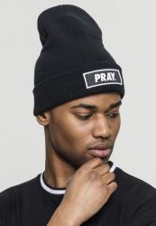 MR. TEE Zimná čiapka Mister Tee Pray Beanie black Flexfit: