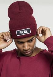 MR. TEE Zimná čiapka Mister Tee Pray Beanie maroon Flexfit: Uni