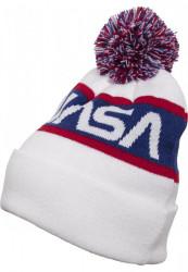 MR. TEE Zimná čiapka Mr.Tee NASA Beanie Knitted biela