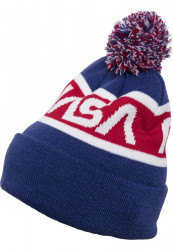 MR. TEE Zimná čiapka Mr.Tee NASA Beanie Knitted modrá