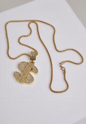 Náhrdelník URBAN CLASSICS Dollar Necklace gold