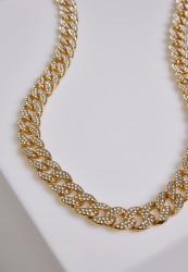 Náhrdelník URBAN CLASSICS Heavy Necklace With Stones gold