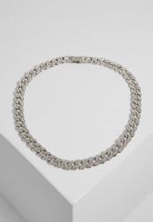 Náhrdelník URBAN CLASSICS Heavy Necklace With Stones silver