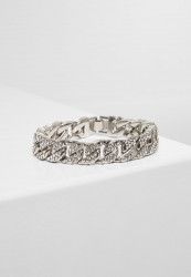Náramok URBAN CLASSICS Big Bracelet With Stones silver