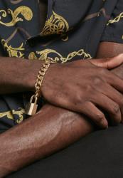 Náramok URBAN CLASSICS Padlock Bracelet gold