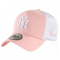New Era 9Forty A Frame Trucker Essential NY Yankees Pink White - UNI