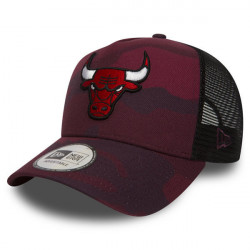 New Era 9Forty A Frame Trucker NBA Camo Chicago Bulls Red - UNI