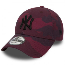 New Era 9Forty MLB Camo NY Yankees Maroon - UNI