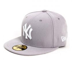 New Era MLB Basic NY Yankees Grey White - 7 Size: 7 3/8