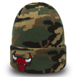 New Era NBA Esential Camo Knit Chicago Bulls Wood Camo -