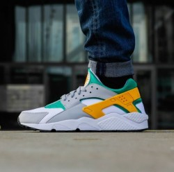 Nike Air Huarache LCD GRN University GLD Wolf Grey