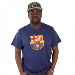 Nike Football FC Barcelona Tee Navy 5
