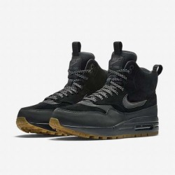 NIKE WMNS AIR MAX 1 MID SNEACKERBOOT BLACK BLACK GUM MED BROWN