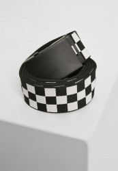 Opasok Urban Classics Adjustable Checker Belt black/white