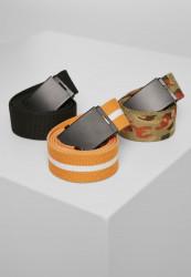 Opasok Urban Classics Belts Trio blk/blk+or.camo/blk+or.wht/blk Flexfit: L/XL