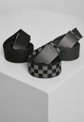 Opasok Urban Classics Belts Trio gry blk/blk+blk/blk+cha/blk Flexfit: L/XL