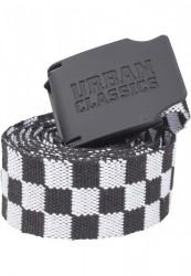 Opasok Urban Classics Canvas Belt Checkerboard 150cm