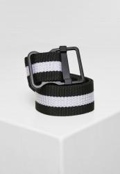 Opasok Urban Classics Easy Belt with Stripes black/white