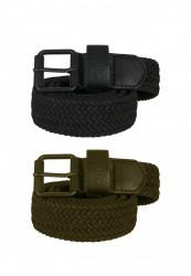 Opasok Urban Classics Elastic Belt Set blk/olive Flexfit: L/XL