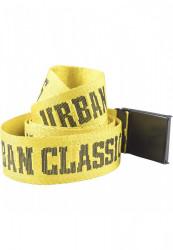 Opasok Urban Classics  Jaquard Logo Belt blk/yellow/blk