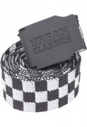 Opasok Urban Classics UC Canvas Belt Checkerboard 150cm black/white