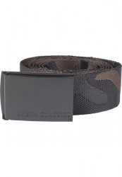 Opasok Urban Classics UC Jaquard Camo Belt 150cm black/brown