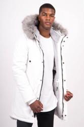 Pánska biela bunda na zimu Sixth June Nylon Lining Fur Parka