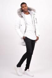 Pánska biela bunda na zimu Sixth June Nylon Lining Fur Parka #1