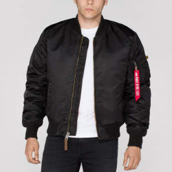 Pánska bombera Alpha Industries MA-1 VF 59 Long Jacket Black Size: 2XL