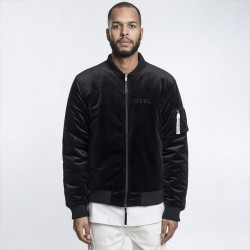 Pánska bombera Cayler & Sons Black Label Series Jacket black velour / white