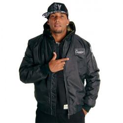 Pánska bombera Cocaine Life Basic Bomber Jacket čierna